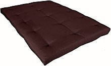 Matelas futon chocolat en coton 140x200 - Marron