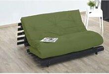 Matelas futon coton pistache 140x190 PISTACHE VERT