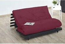 Matelas futon coton rouge 160x200 ROUGE CYCLAMEN