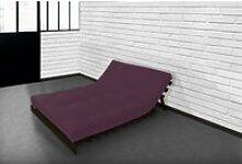 Matelas futon latex aubergine 160x200 AUBERGINE