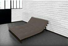 Matelas futon latex taupe 140x190 TAUPE