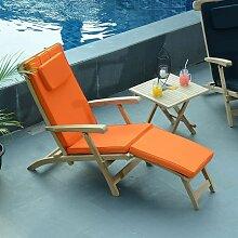 Matelas Orange pour Chaise longue - Orange
