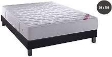 MATELAS RESSORTS & MOUSSE + SOMMIER ANTHRACITE -