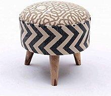 MATHI DESIGN Kilim - Pouf Boheme Tissu Coton