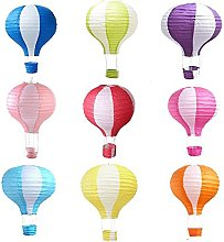 Matissa Pack de 9 Lanterne en Papier de Ballon