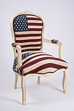 MAXIOCCASIONI Fauteuil baroque drapeau USA