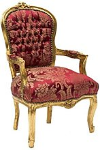MAXIOCCASIONI Fauteuil Or Rouge Style baroque