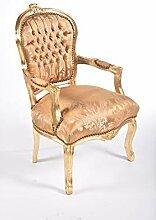 MAXIOCCASIONI Fauteuil style baroque doré avec