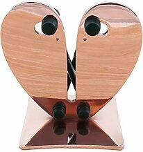 Maxte Aiguiseur en forme de cœur en acier