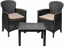 MaxxGarden Set de Jardin - 2 chaises et Petite