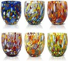 MAZZEGA ART & DESIGN Lot de 6 verres à eau en