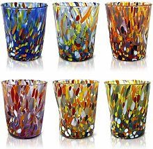 MAZZEGA ART & DESIGN Lot de 6 verres à eau «
