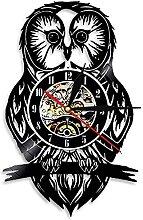 MBKYSZ Chouette Animal décoration Vinyle Horloge
