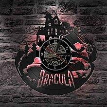 MBKYSZ Vampire Horloge Murale en Vinyle Record