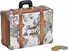MC Trend Tirelire en forme de valise avec carte du