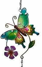 MCDSAJ Carillon à vent papillon en métal à