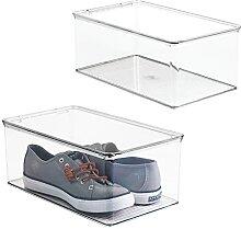 mDesign boite à chaussures empilable avec