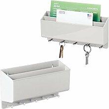 mDesign boîte à clés Pratique pour Couloir et