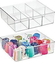 mDesign boîte de rangement avec 6 compartiments