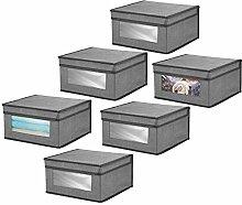 mDesign boîte de rangement en tissu (lot de 6)