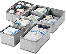 mDesign boîte de rangement en tissu (set de 5)