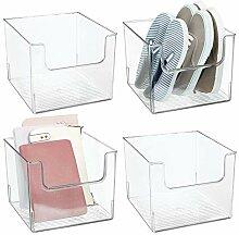 mDesign boîte de rangement (lot de 4) – boîte