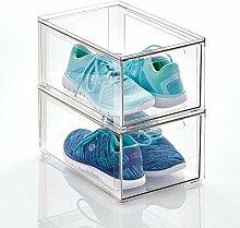 mDesign boite de rangement plastique avec tiroir