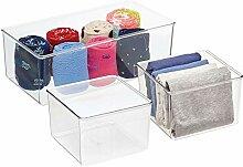mDesign boîte de Rangement (Set de 3) – boîte