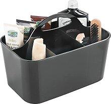 mDesign caisse pour nettoyants de chaussures noire