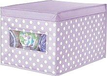 mDesign casier en Tissu empilable – boîte de