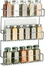 mDesign Etagère à épices en métal avec trois