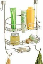 mDesign étagère de douche à suspendre à la