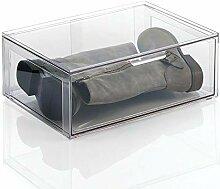mDesign grande boite de rangement plastique avec