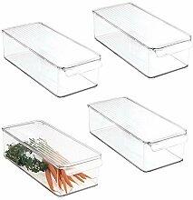 mDesign (lot de 4) boîte en plastique avec