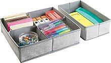 mDesign organiseur de tiroirs – lot de 2 grands