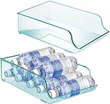 mDesign range-bouteilles en plastique en lot de 2