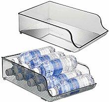 mDesign range-bouteilles en plastique (lot de 2)
