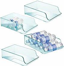 mDesign range-bouteilles en plastique (lot de 4)