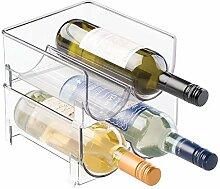 mDesign range-bouteilles (lot de 2) – casier à