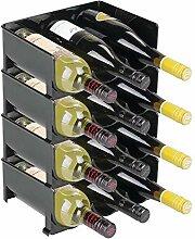 mDesign range-bouteilles (lot de 4) – casier à