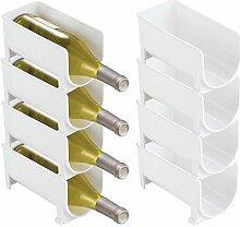 mDesign Set de 8 casiers à vin pour la Cuisine -