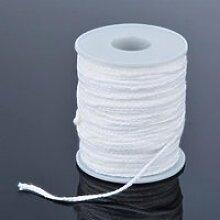 Mèche de bougie tissée en coton, 61m,