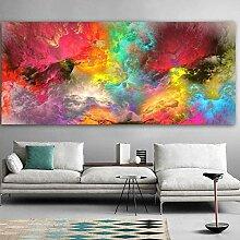 MEDASE Nuage Peintures Abstraites Horizontal Mur