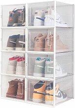 Meerveil - Boîte à chaussures Transparentes en