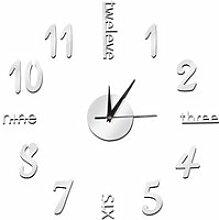 MEIHE Stickers muraux horloge digitale Horloge