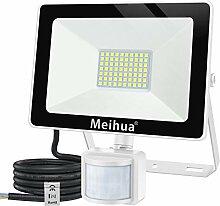 MEIHUA 60W Projecteur LED détecteur de mouvement