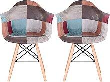 MeillAcc Lot de 2 chaises de salle à manger en