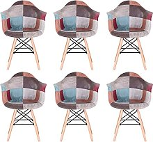 MeillAcc Lot de 6 chaises de salle à manger en