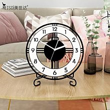 MEISD – horloge de Table à Quartz silencieuse,