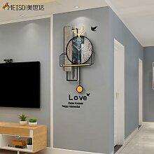 MEISD – Horloge murale Vintage, décoration